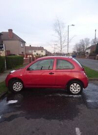 Beautiful red Nissan Micra