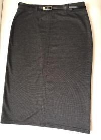 Dark grey tube skirt