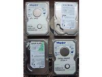 Hard Drives (4) ATA 3x 160gb 1x 120gb