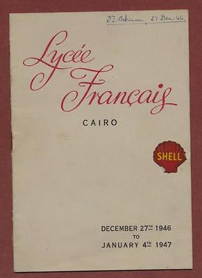 Cairo. Lycee Francais. 1946. SHELL. The Shaw Players. 'Pygmalion'  yd67