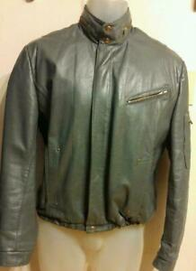 Oakville MENS 40 M VINTAGE MOTORCYCLE JACKET BIKER COAT Gray Retro Jonathan Christopher Made in Canada  Mint
