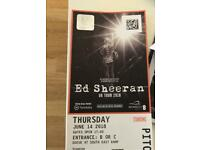 Ed Sheeran tickets x 2 Wembley 14th June