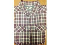 Purple checkered shirt