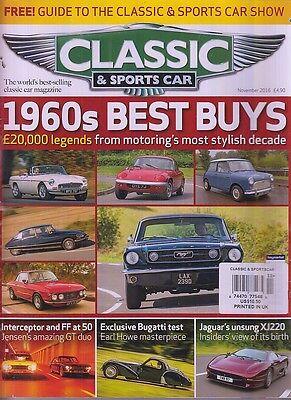Classic & Sports Car 1960s Best Buys Nov 2016 Bugatti Jaguar XJ220 GTO Duo