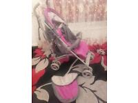 Pram/ pushchair/ stroller+ footmuff