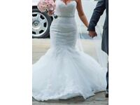 Sophia Tolli Begonia Fish Tail Wedding Dress & Vail