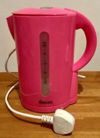 Swan hot pink kettle and toaster