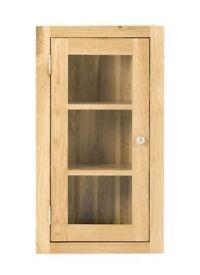 Glazed 1 Door Wall Cabinet (SOK-012)
