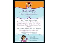 Rise&Shine - Domestic Cleaning, Holiday changeovers, Commercial, End/Start of tenancy and much more.