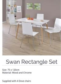 Rectangle dining table with 4 chairs (brand new)