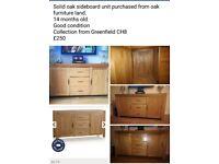 Oak side board unit