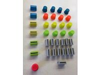 DJ TECHTOOLS Chroma Caps (set of 36) D-Type + Slider Replacement Knobs/Caps