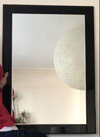 Elegant Dining room / living room / foyer black glass rim mirror