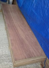 6 Pieces of NEW 22mm Far Eastern Hardwood Exterior Plywood 96in x 24in (2440mm x 610mm)