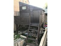 B&Q 'Shire' Wooden Playhouse / Command Post