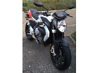 MV Augusta Brutalé 800cc, 2013, Low Mileage, Sport Motorbike