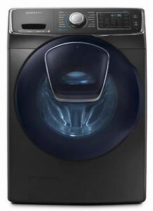 Laveuse à chargement frontal de 5,8 pi³ avec AddWash Acier inoxidable Noir ( WF50K7500AV )