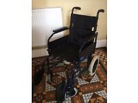 WHEELCHAIR: Invacare Zipper 2 - sturdy (up to 114kg) Lightweight and portable. Excellent conidition