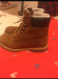 Ladies Timberland Fur lined boots