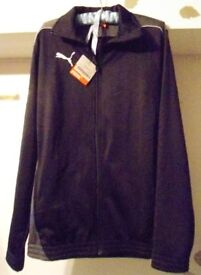 Puma Foundation Poly Suit. Black and Grey, Size 34 / 36