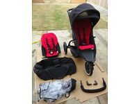Phil & Teds Explorer Double Seat Buggy Pushchair Stroller + Extras VGUC