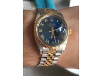 Rare Rolex Datejust 16013 Two Tone Blue Dial