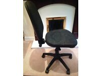 Black comfortable office chair.Fully adjustable. Offers please.