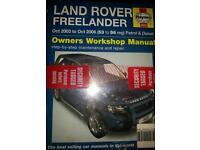 Landrover Freelander Haynes Manual £5