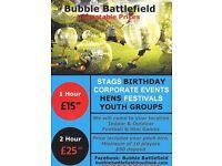 Bubble Football :- Bubble Battlefield, Unbeatable Prices. PerPerson 1hr = £15 - 2hr = £25