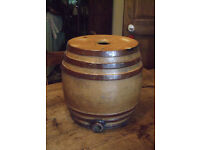 Large vintage Stoneware/Ceramic brandy barrel - Doulton & Co Lambeth