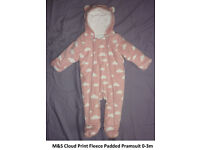Baby girls pramsuits - diffrent sizes ( can post)