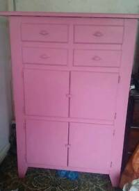 Ikea chest of drawers pink