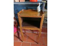 French cherry wood bedside cabinet