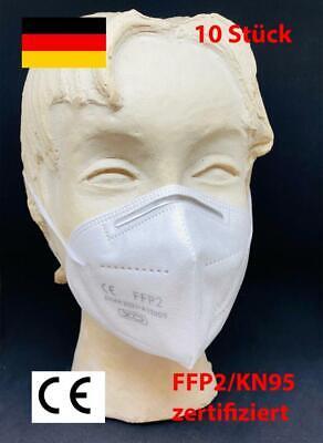 10x Atemschutzmasken, FFP2 Maske, KN95 Maske , EN 149:2001, Mundschutz, Maske