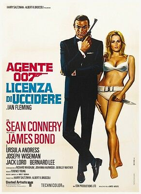 Dr. No *LARGE POSTER* Sean Connery JAMES BOND 007 AMAZING ARTWORK Ursula Andress