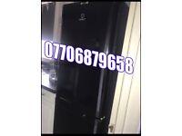 Black fridge freezer large type can deliver like new
