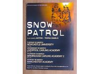 """ORIGINAL """"SNOW PATROL"""" TOUR POSTER MANCHESTER UK"""