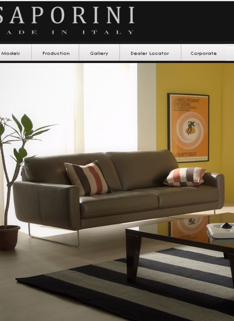 Saporini Sofa Made In Italy Seater Super Comfy Rrp In