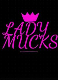 Lady mucks cleaning
