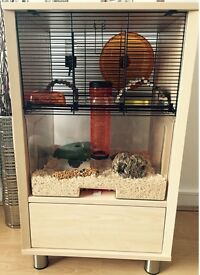 Omlet Hamster & Gerbil Cage With Storage