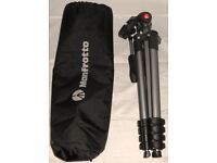Manfrotto Compacted Advanced 3 way head Tripod travel light weight