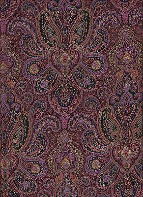 acquardstoff Stoff Paisleymuster Farbe lila Mittelalterstoff (Lila Muster)