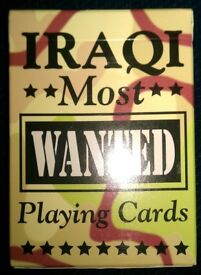 Pack Of 'Iraqi Most Wanted' Picture Playing Cards (unbroken seal)