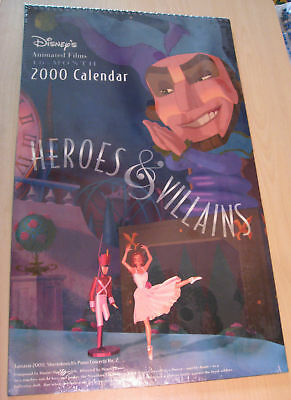 "Disney's Heroes & Villains 16-month 2000 Calendar - Large 19"" x 11 1/2"""