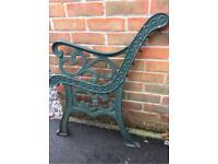 Heavy Cast iron Garden bench ends- flur De lis style