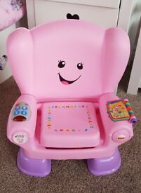 Laugh and Learn pink chair