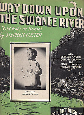 Way Down Upon The Swanee River-1935-Foster-Sheet (Way Down Upon The Swanee River Sheet Music)