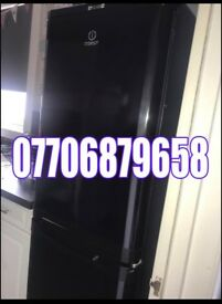 Black fridge freezer large type can deliver like new