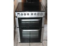 6 MONTHS WARRANTY AA energy rated Servis 60cm, double oven electric cooker FREE DELIVERY