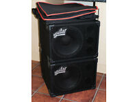 Pair of Aguilar GS112s in mint condition c/w Roqsolid covers